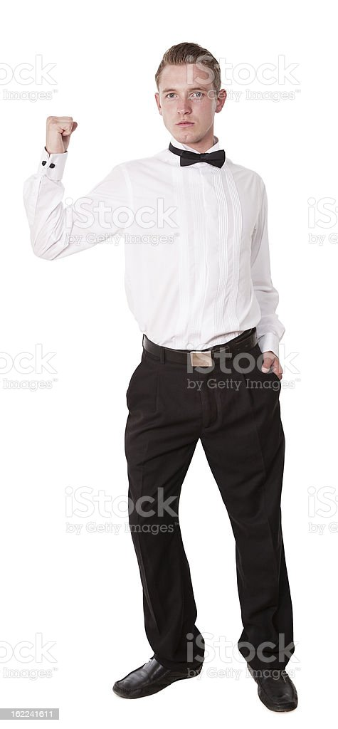 Man with bow tie royalty-free stock photo