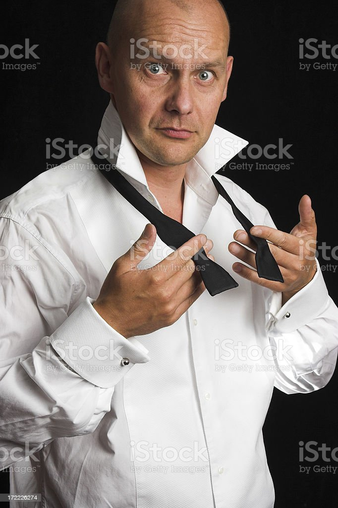 Man with Bowtie 2 royalty-free stock photo