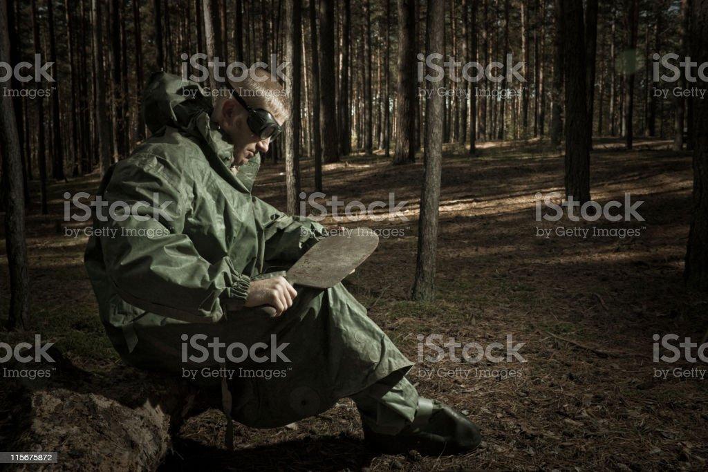 Man with broadsword. stock photo