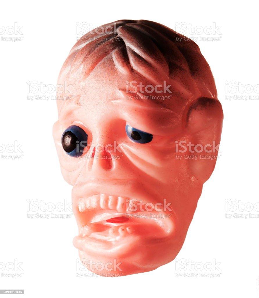 Man With Bulging Eye stock photo