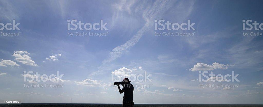 man with camera royalty-free stock photo