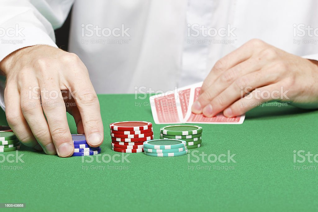Man with cards royalty-free stock photo