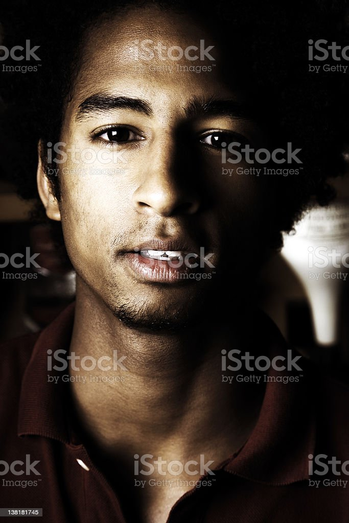Man with character royalty-free stock photo