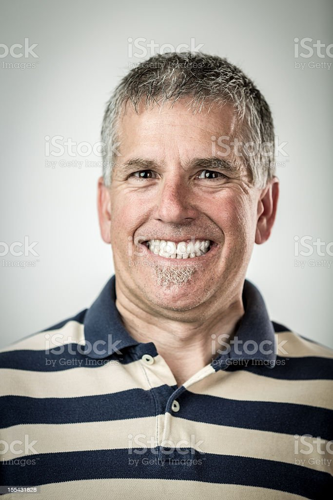 Man with Cheesy Grin stock photo