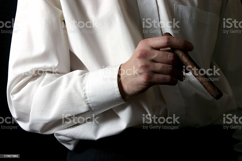 Man with cigar royalty-free stock photo