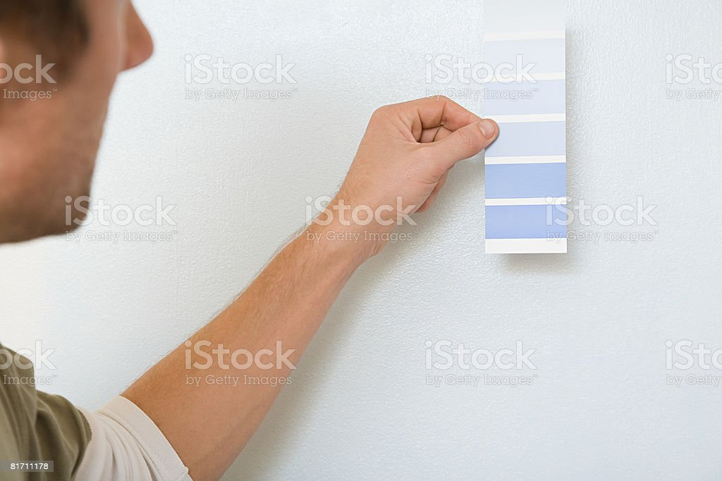 Man with colour chart royalty-free stock photo