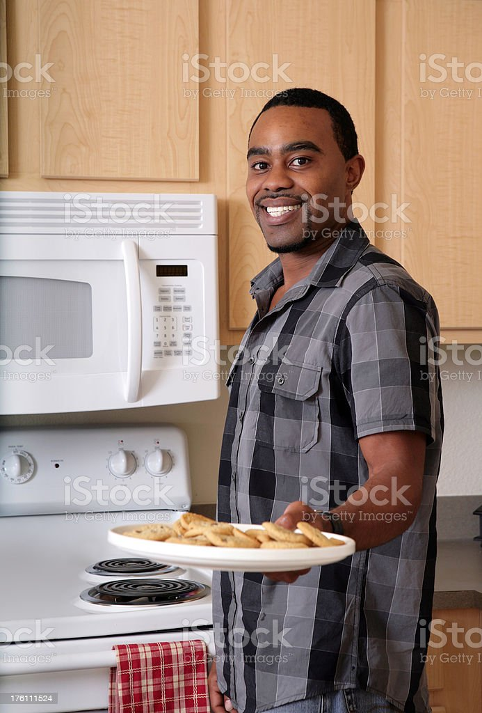 Man with Cookies royalty-free stock photo