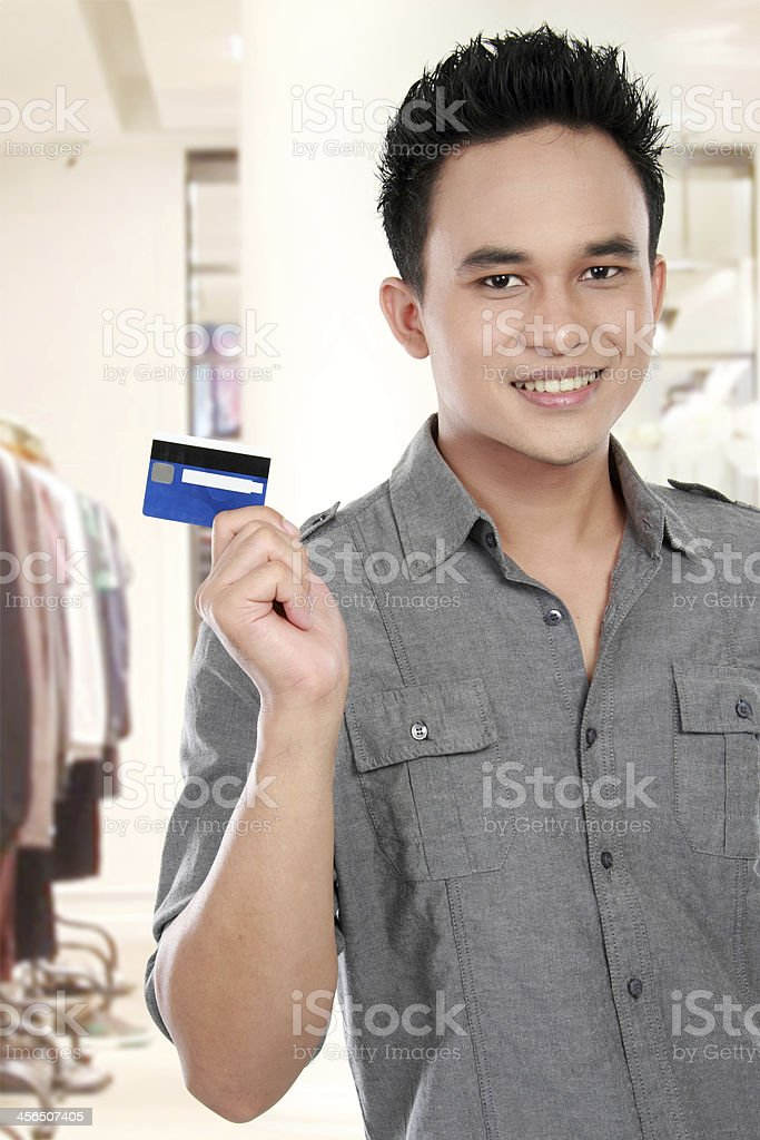 man with credit card royalty-free stock photo