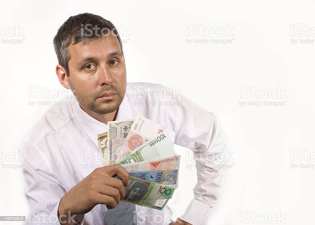 man with currency royalty-free stock photo