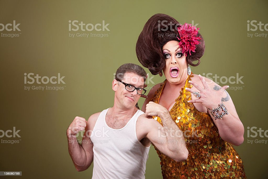 Man with Drag Queen royalty-free stock photo