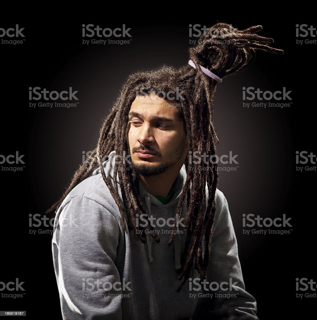man with dreadlocks royalty-free stock photo