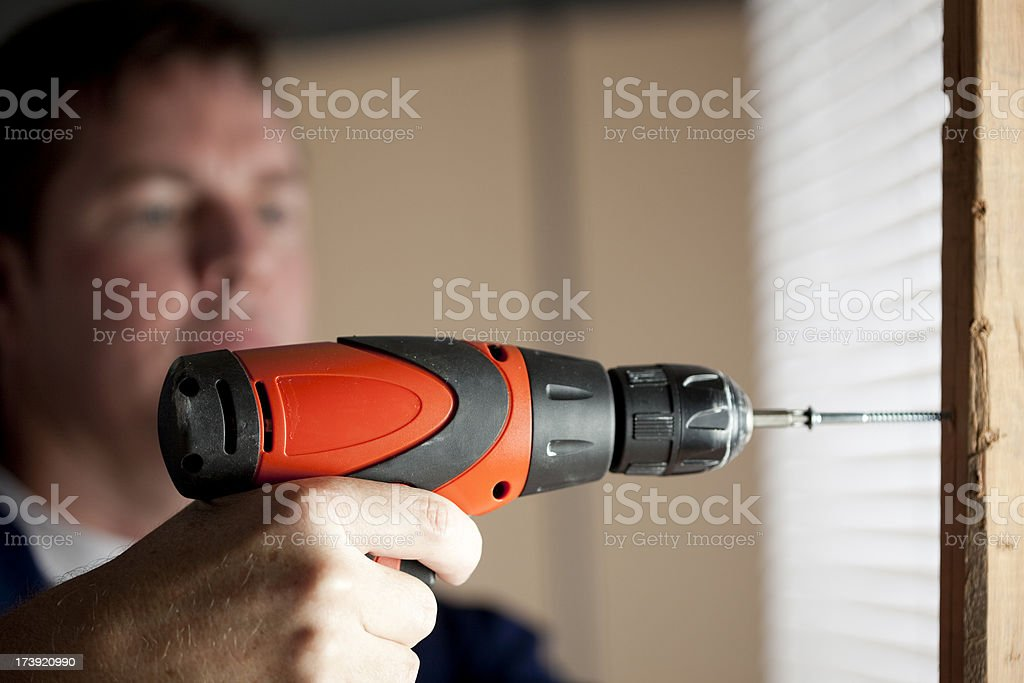 Man with Drill royalty-free stock photo