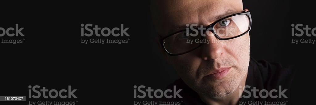 man with eyeglasses royalty-free stock photo