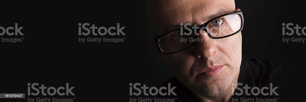 man with eyeglasses royalty-free stock photo