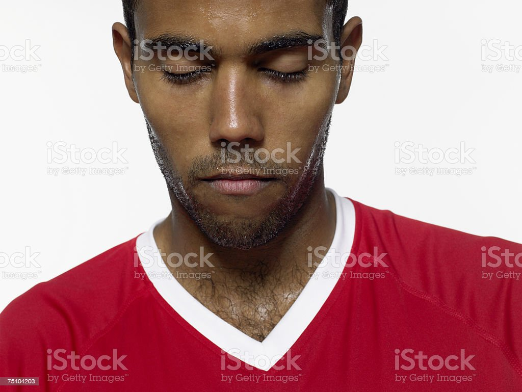 Man with eyes closed royalty-free stock photo