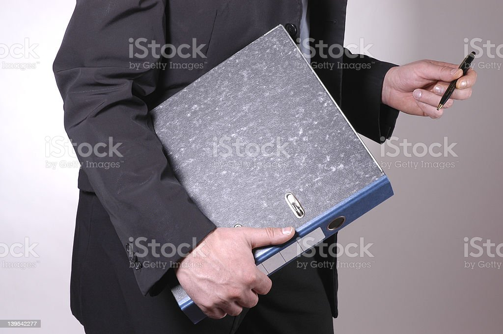 man with file royalty-free stock photo