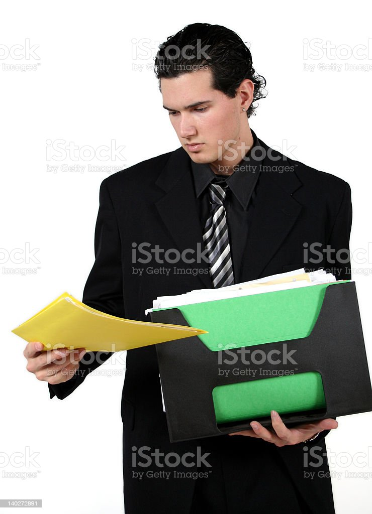 man with files royalty-free stock photo