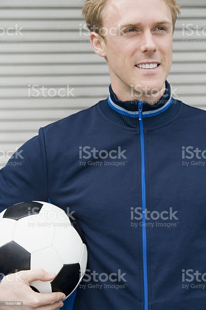 Man with football royalty-free stock photo