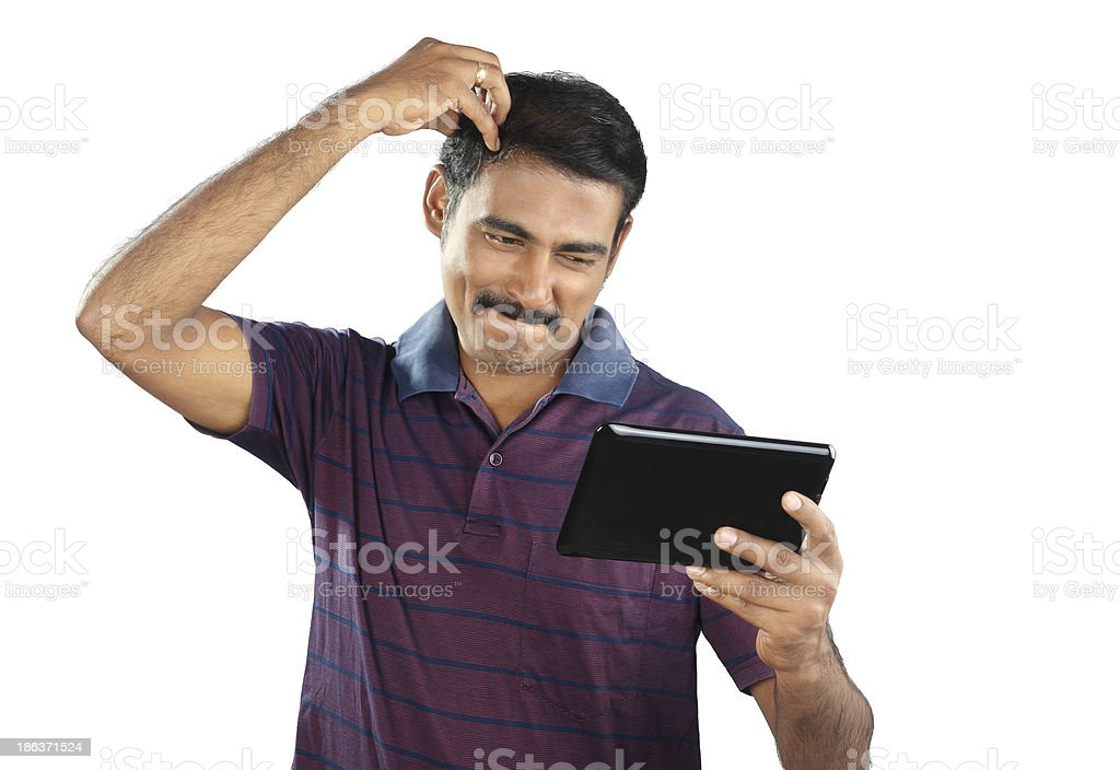 Man with funny expression royalty-free stock photo