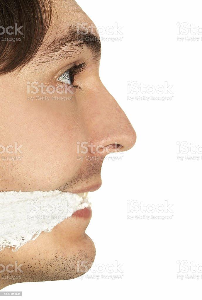 man with gag stock photo