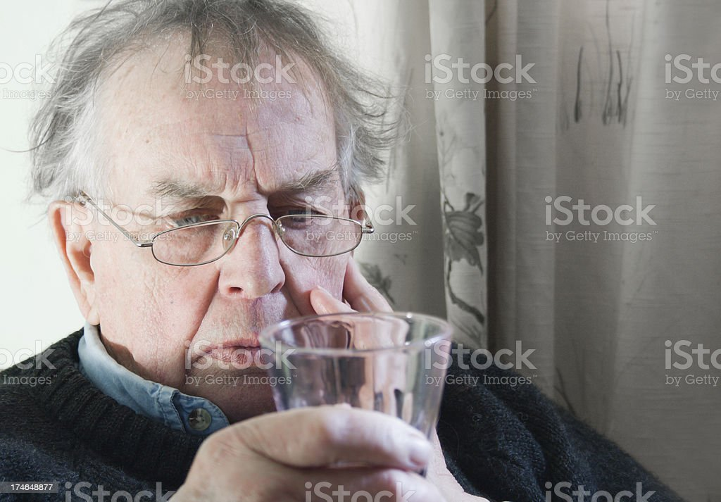 Man with Glass. royalty-free stock photo