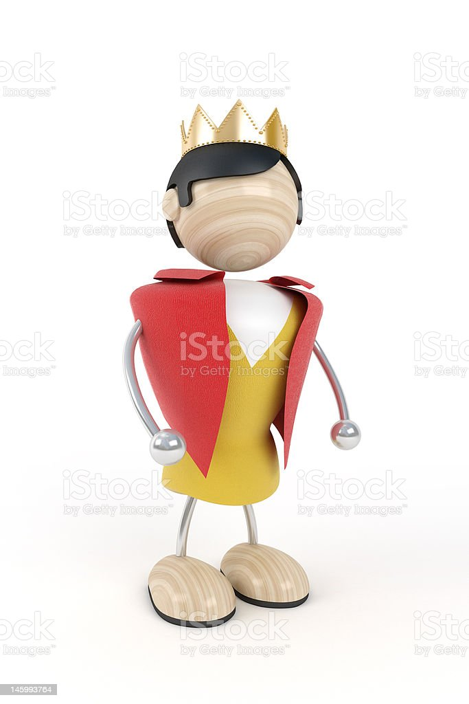 Man with gold crown royalty-free stock photo