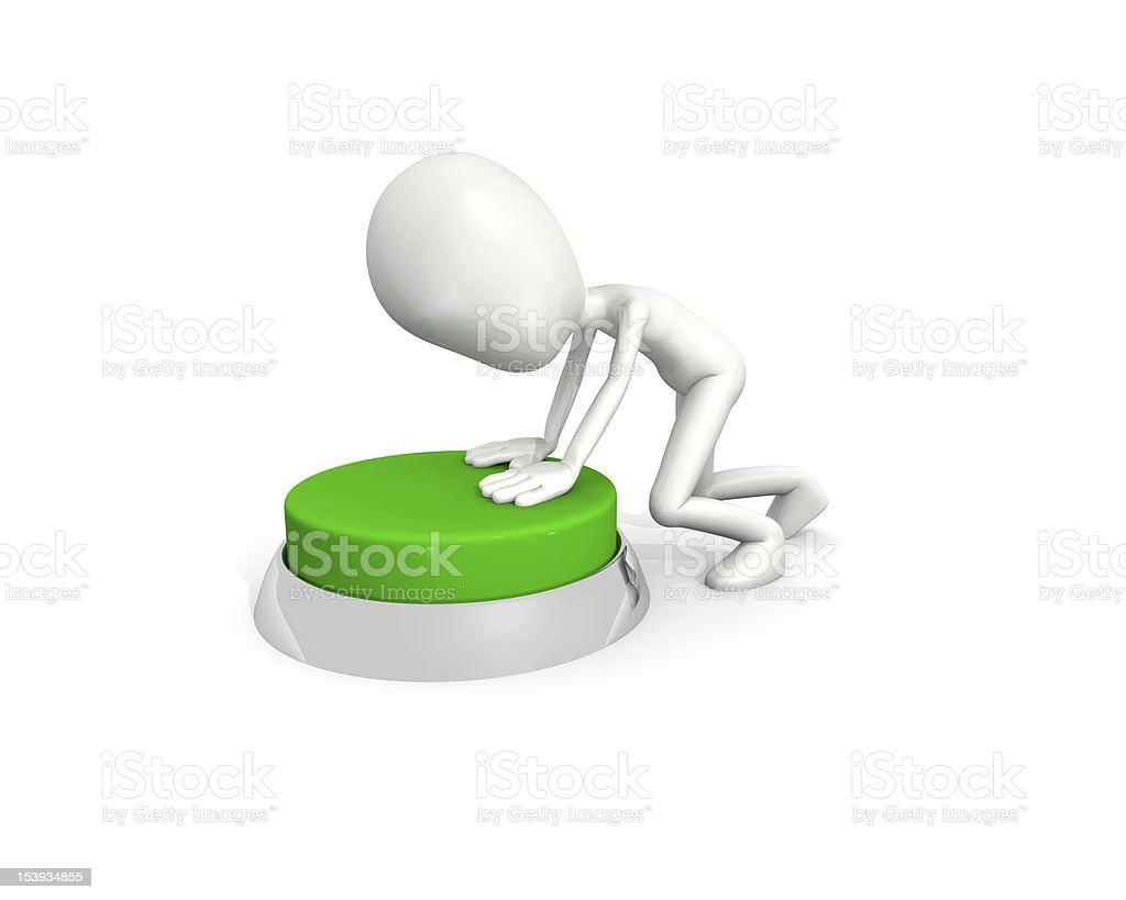 Hombre con verde botton foto de stock libre de derechos