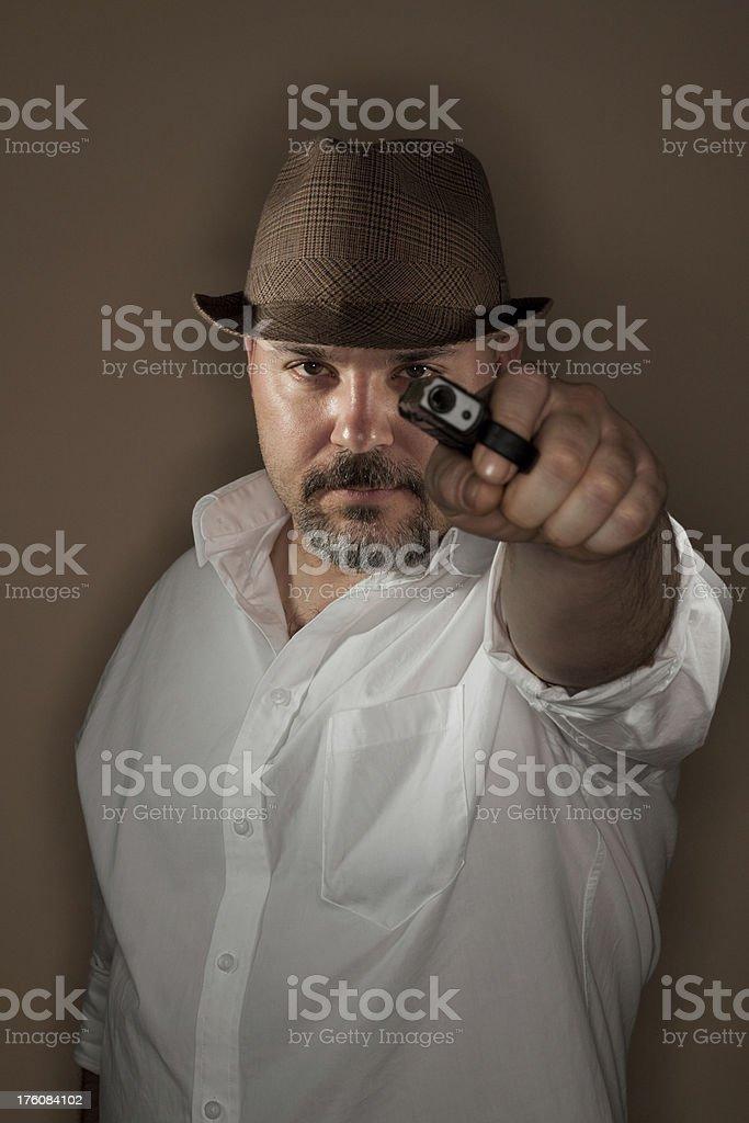 man with gun royalty-free stock photo