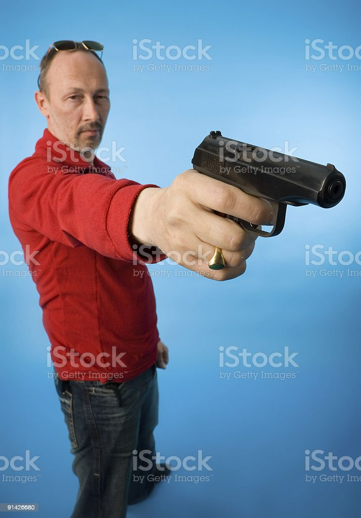 man with gun royalty-free stock photo