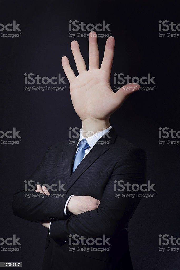 Man with Hand Head royalty-free stock photo