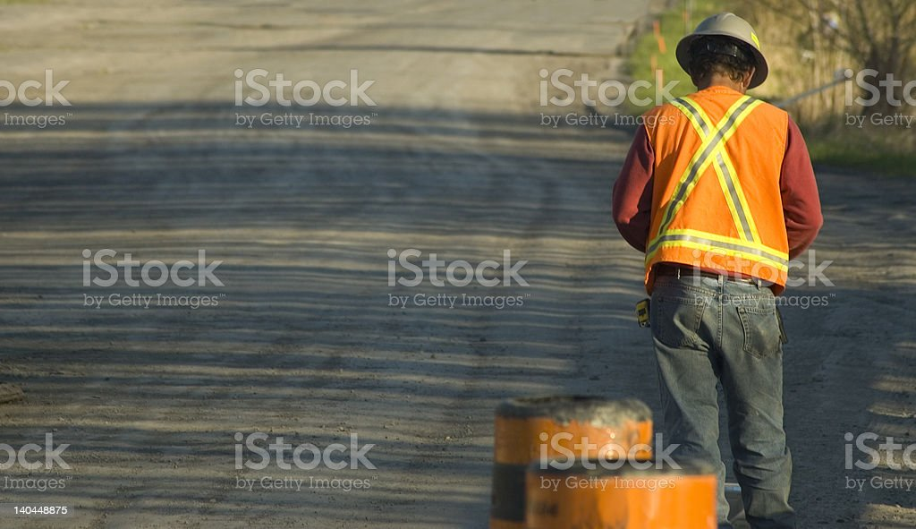 man with hard hat royalty-free stock photo