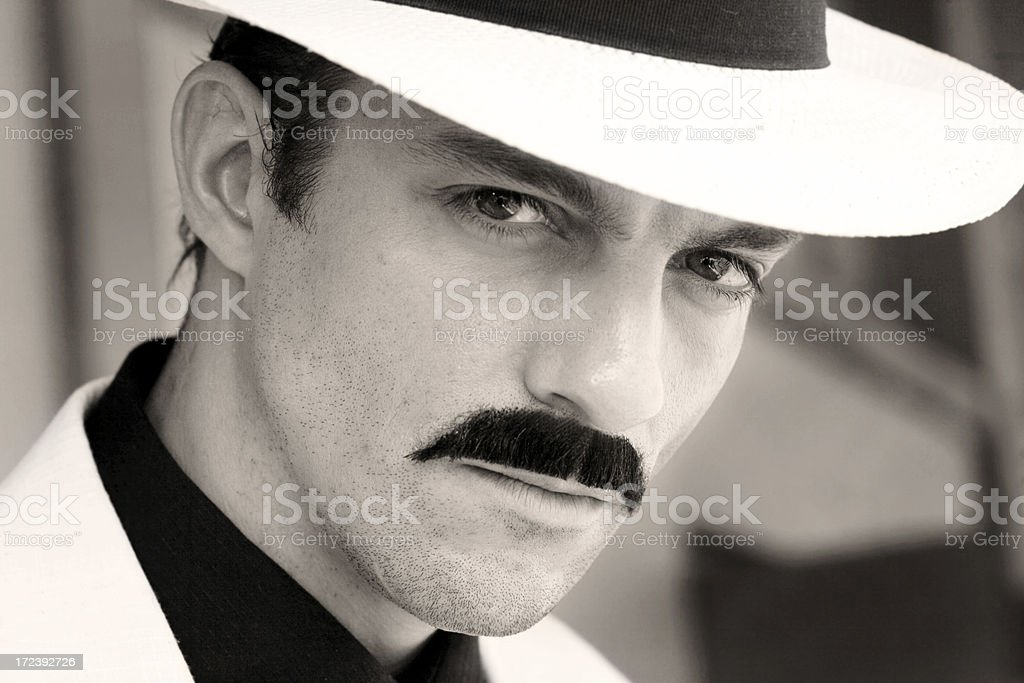 man with hat royalty-free stock photo