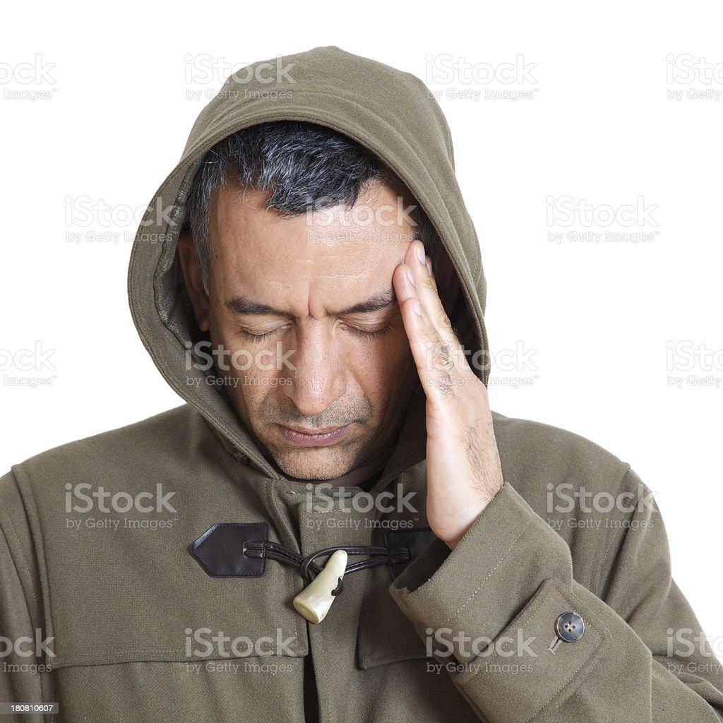 Man with headache royalty-free stock photo