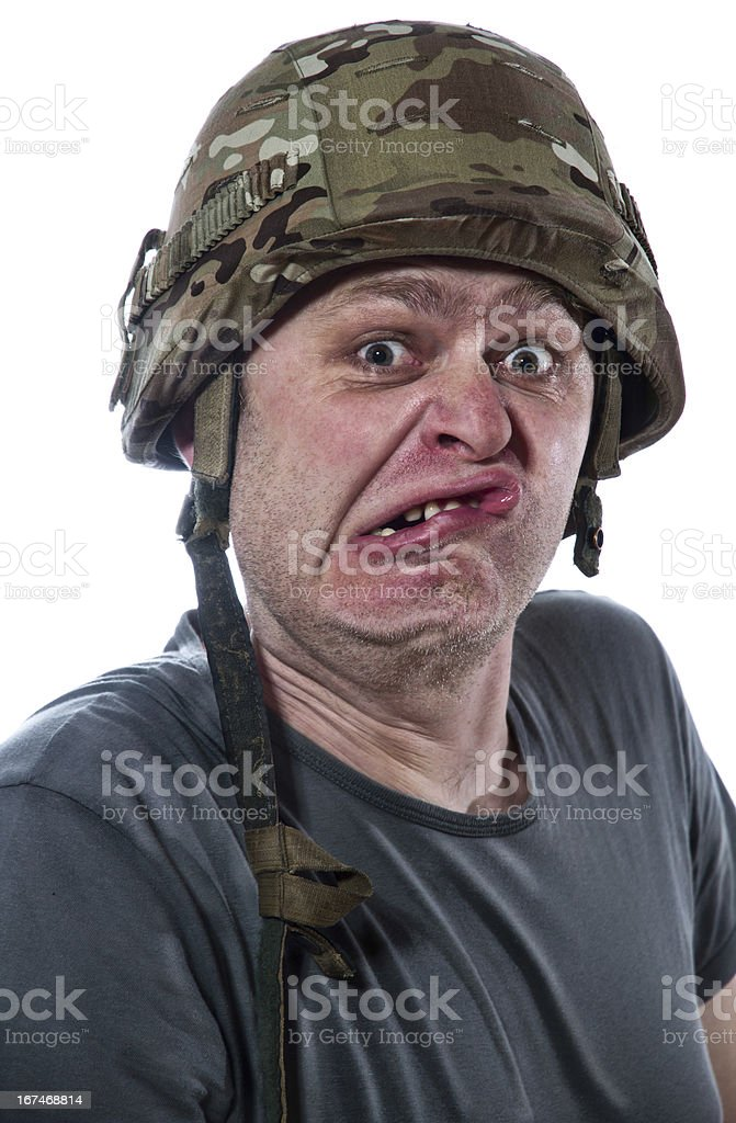 man with helmet royalty-free stock photo