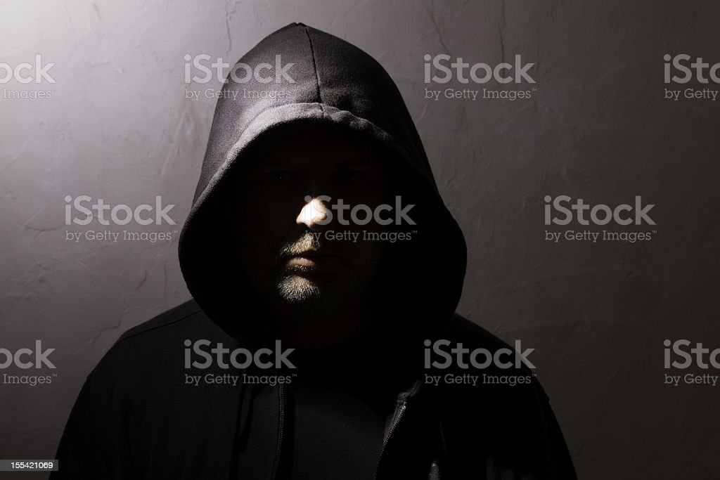man with hidden face royalty-free stock photo