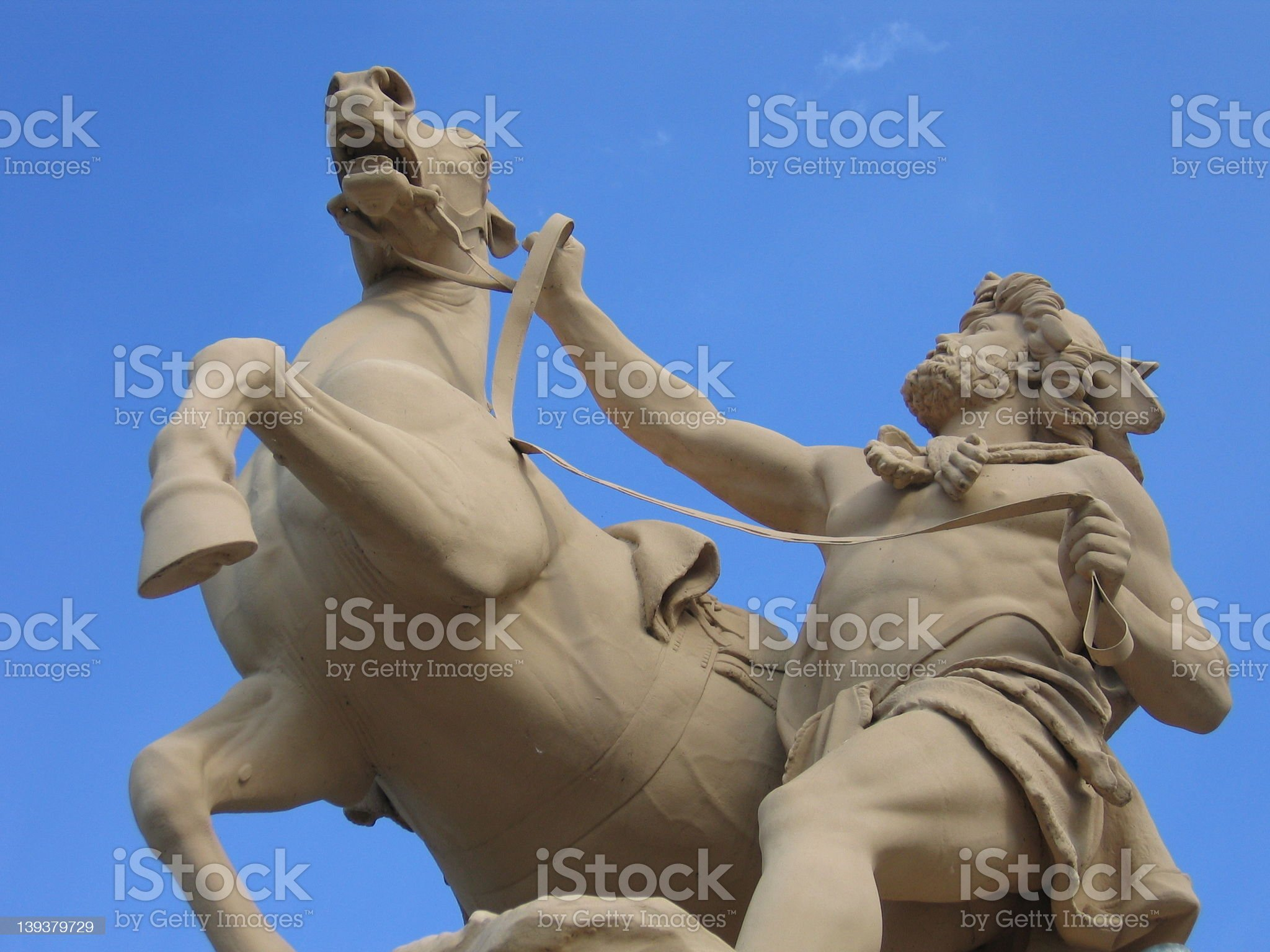 Man with Horse royalty-free stock photo