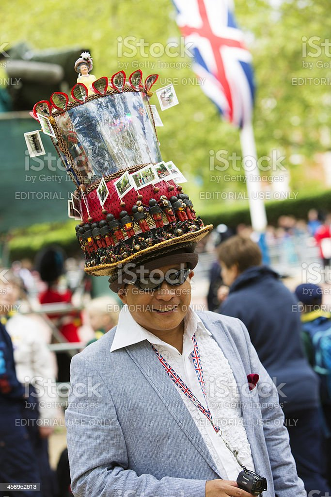 Man With Jubilee Hat royalty-free stock photo