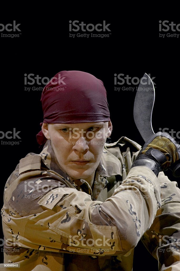 man with knife royalty-free stock photo