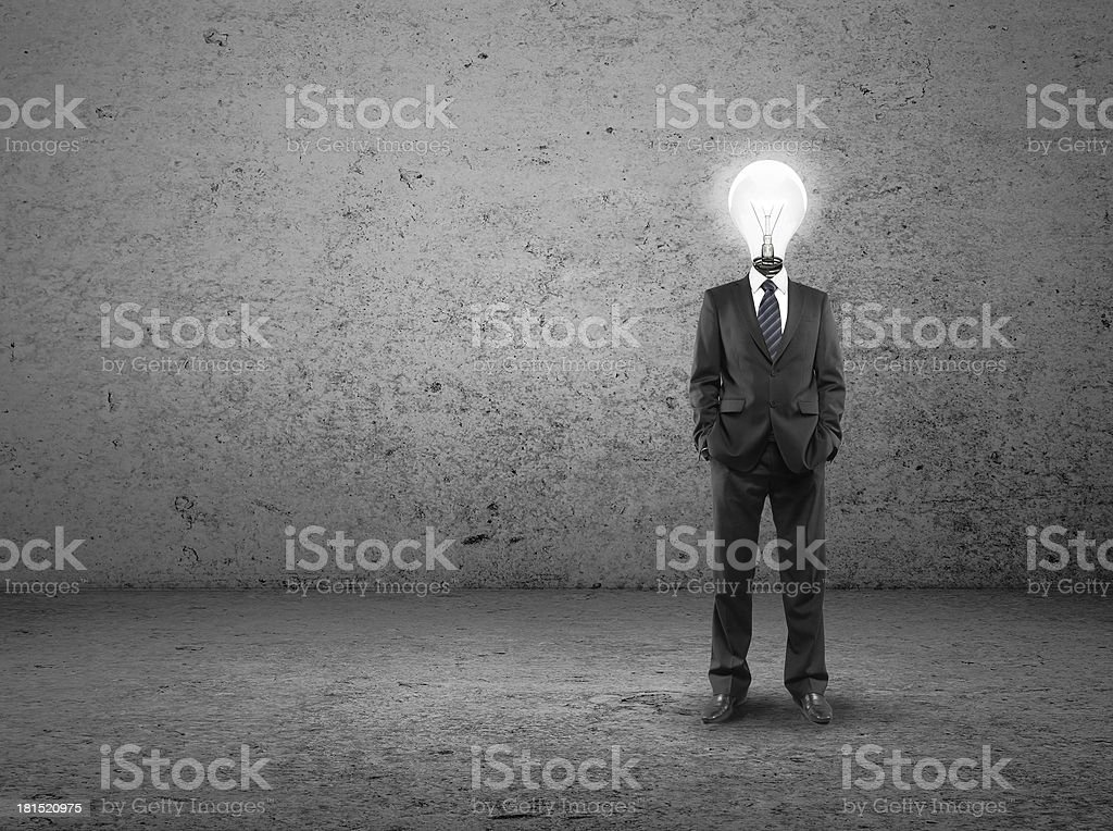 man with lamp-head royalty-free stock photo