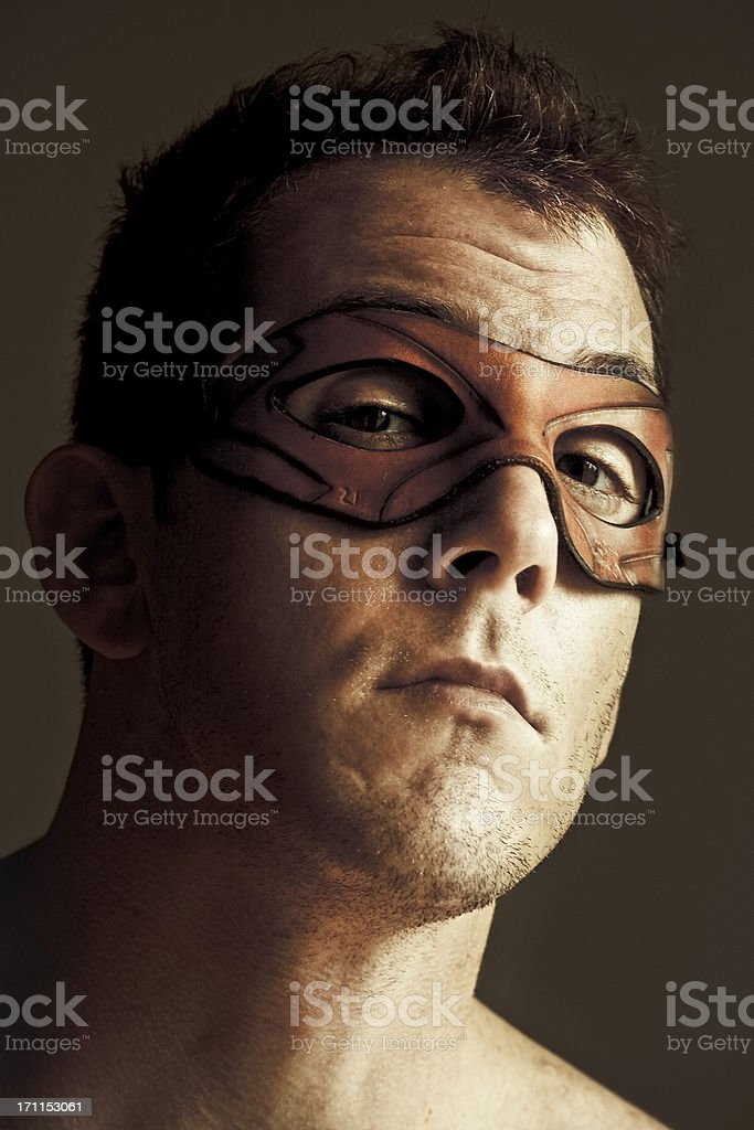Man with Leather Mask royalty-free stock photo