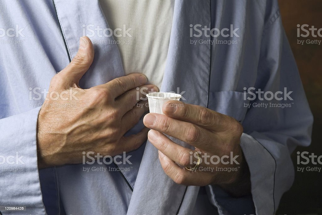 man with medication2 stock photo
