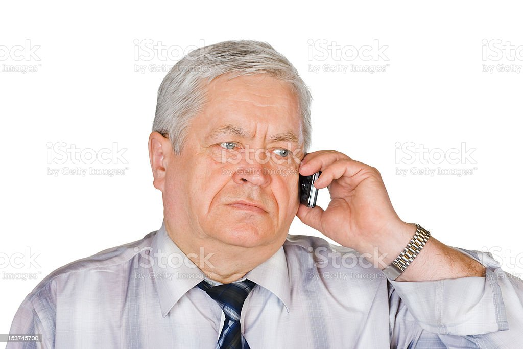 Man with mobile phone royalty-free stock photo