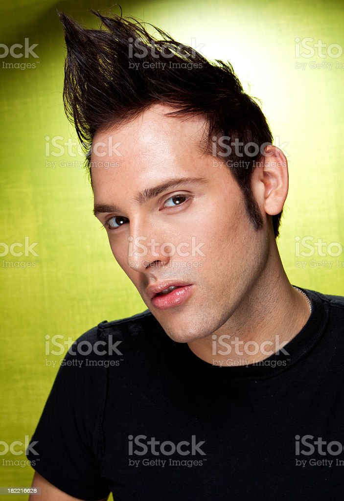 Man With Mohawk stock photo