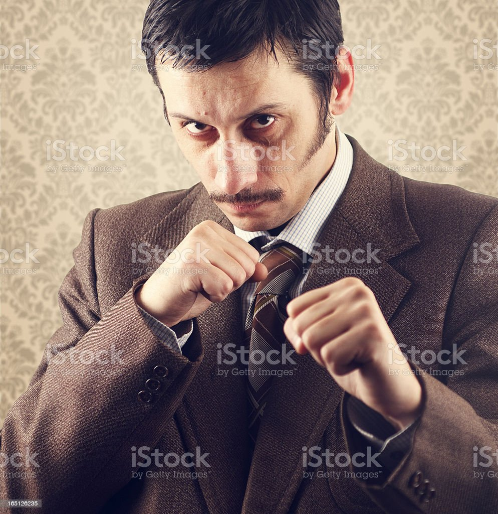 Man with mustache royalty-free stock photo
