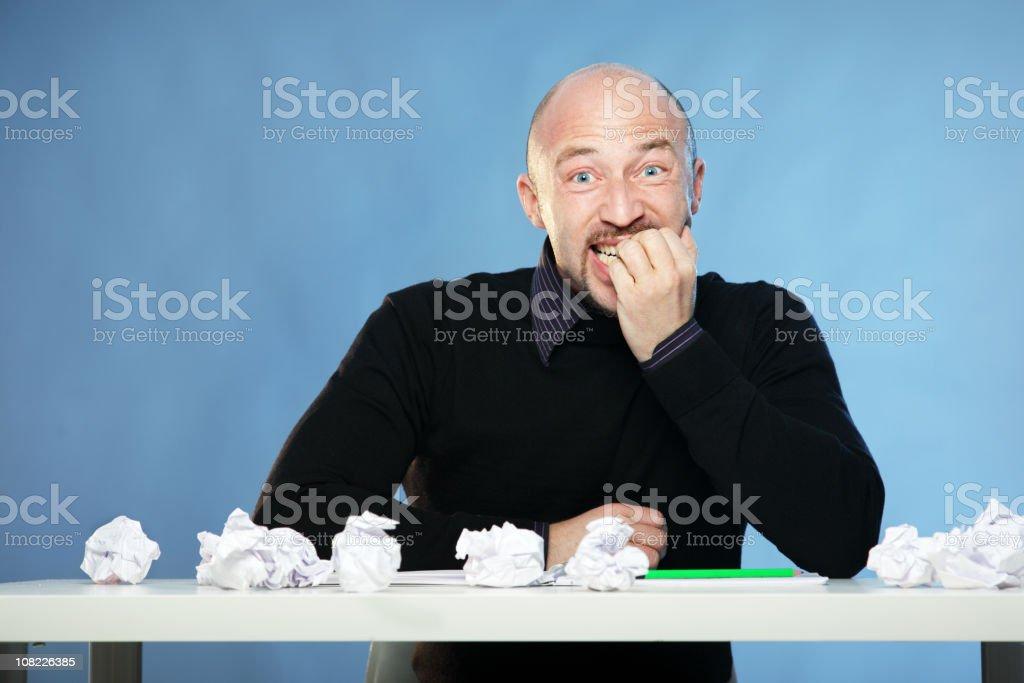 Man with no Inspiration - Afraid royalty-free stock photo