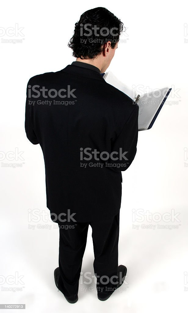 man with notebook royalty-free stock photo