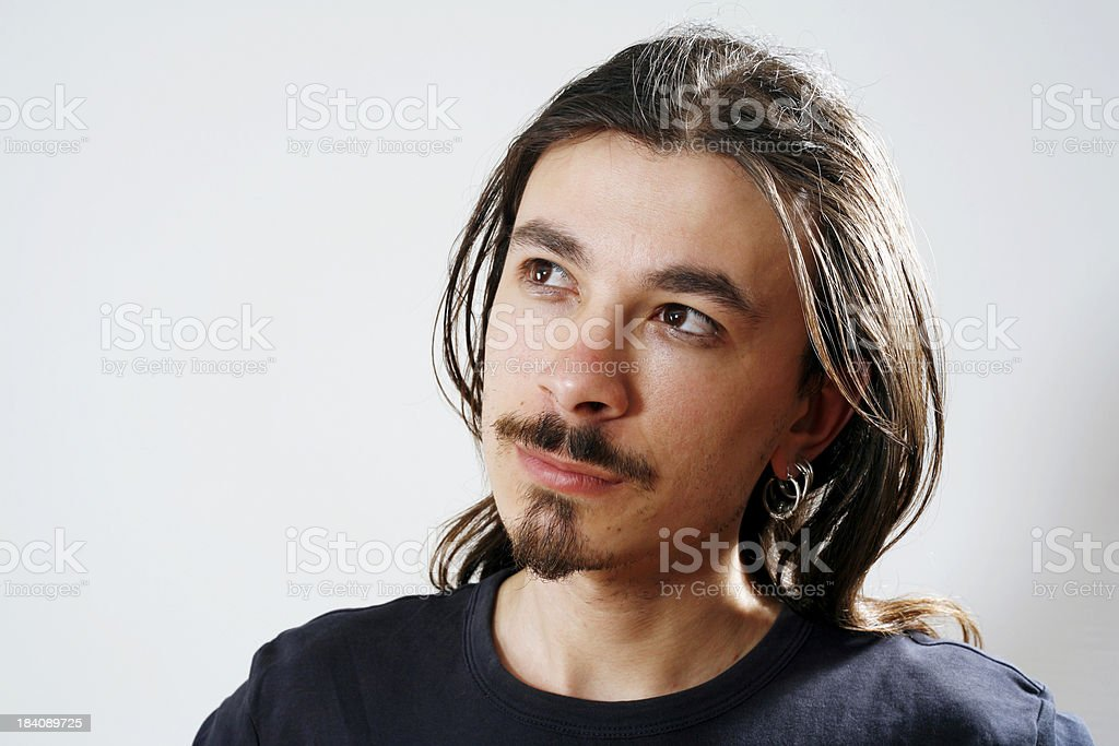 Man With Pensive Expression royalty-free stock photo