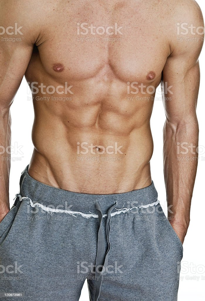 Man with physically fit body royalty-free stock photo