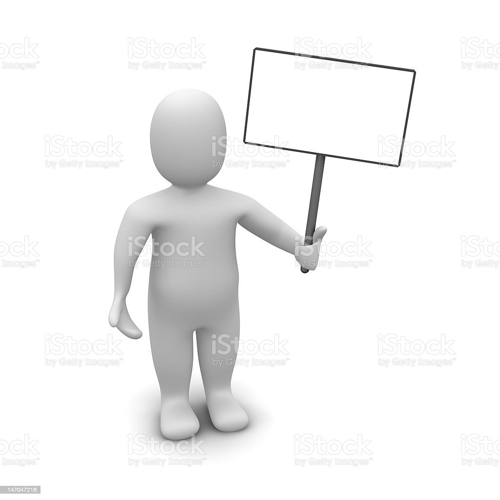 Man with poster royalty-free stock photo