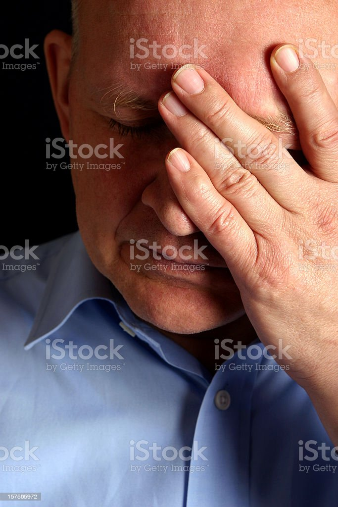 Man with problems stock photo